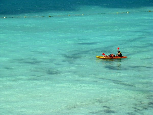Cancun beach Kayaking